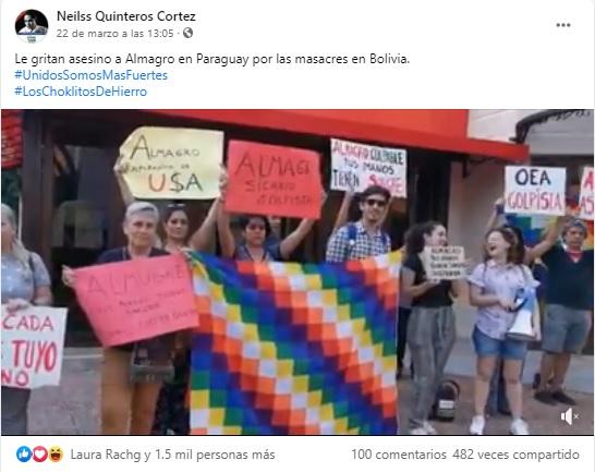 El video donde gritan «asesino» a Luis Almagro no es actual