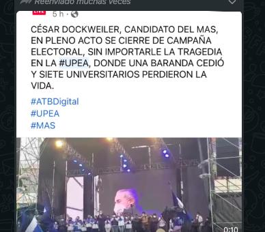 César Dockweiler postergó el acto de campaña del 2 de marzo, la imagen que circula en redes es falsa