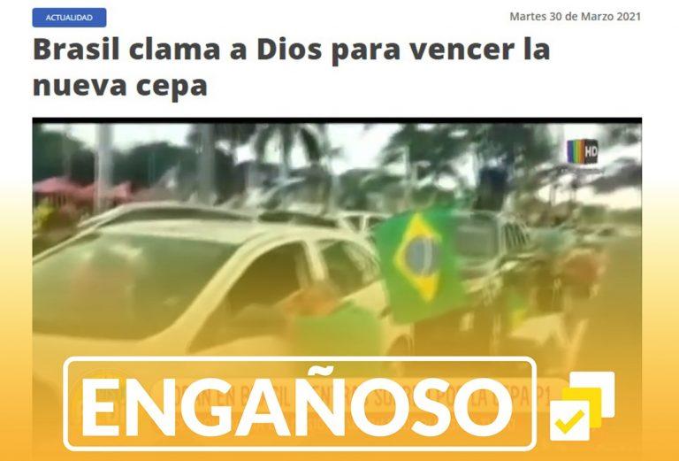 El video de personas orando en Brasil no es actual como aseguran dos medios bolivianos