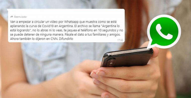 """Argentina lo está logrando"": vuelve a circular falsa cadena por WhatsApp"