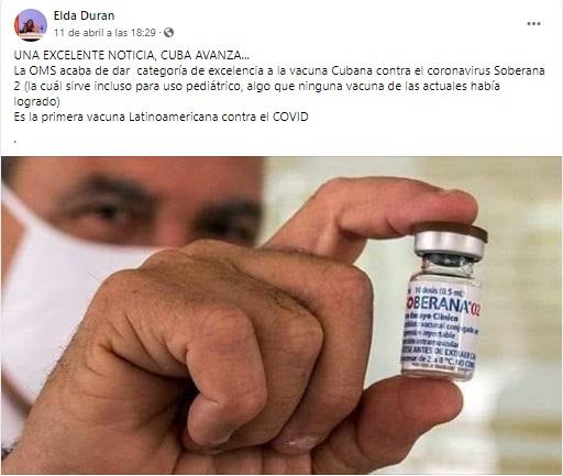 La OMS no otorgó la categoría de excelencia a la vacuna cubana Soberana 02