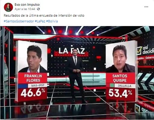 Unitel no difundió encuestas para segunda vuelta a la Gobernación de La Paz