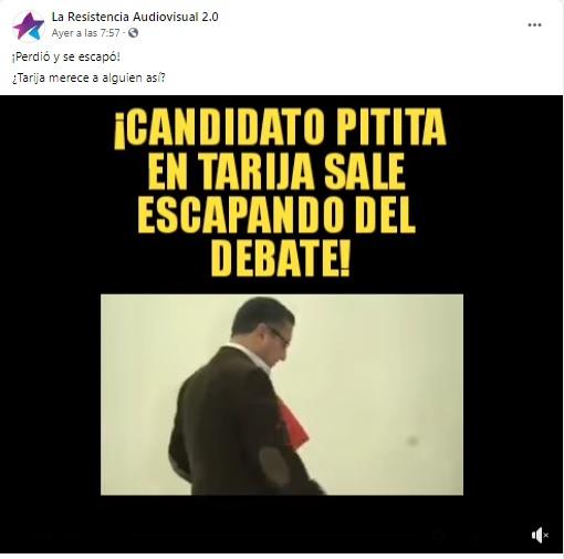 Oscar Montes no se «escapó» del debate electoral en Tarija