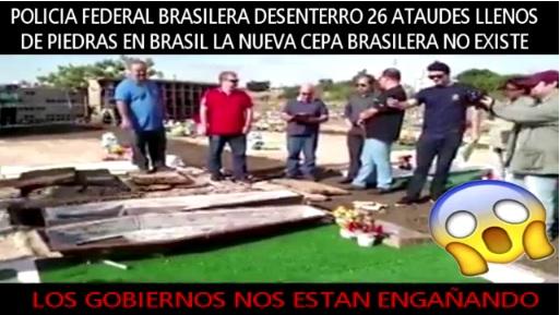 Ataúd con piedras desenterrado en Brasil no tienen nada que ver con coronavirus