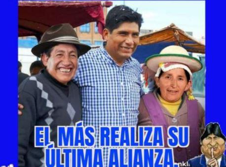 Rafael Quispe no posó en una fotografía junto a Franklin Flores y Lidia Patty