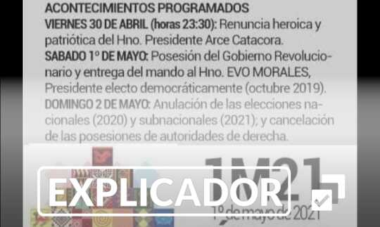 Si el presidente Arce renuncia, constitucionalmente no puede asumir Evo Morales