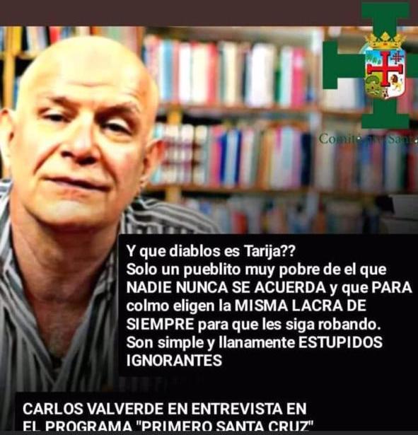 Carlos Valverde no mencionó que Tarija siempre elige a la misma 'lacra'
