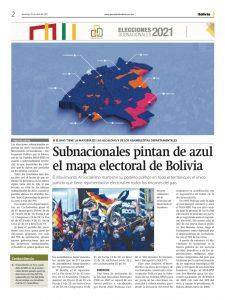 Mapa electoral engañoso se difunde en un medio del Estado: obvia los resultados de las gobernaciones
