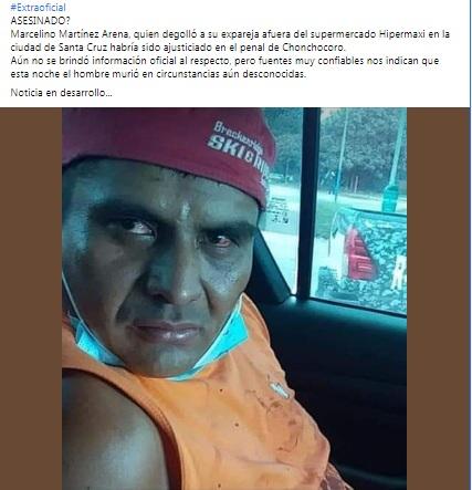 Es falso, Marcelino Martínez no fue «ajusticiado» como se señala en las redes sociales