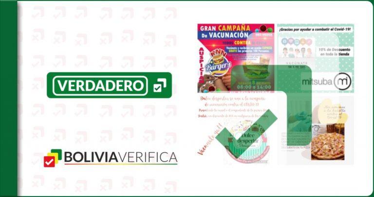 Desde hamburguesas hasta descuentos en ropa: Algunos negocios en Riberalta ofrecen incentivos para que la población se vacune