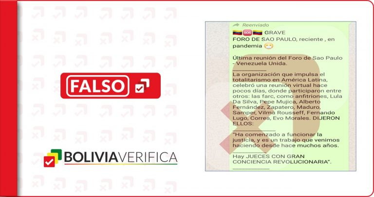 No, el Foro de Sao Paulo no hizo estas determinaciones