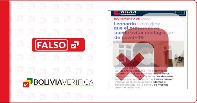 Usando el logo de Erbol, atribuyen declaraciones falsas a senador Leonardo Loza