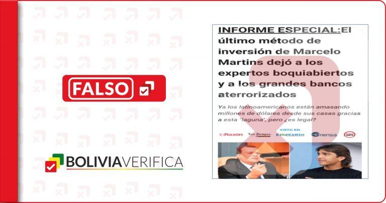 Marcelo Martins no promociona inversión de bitcoims