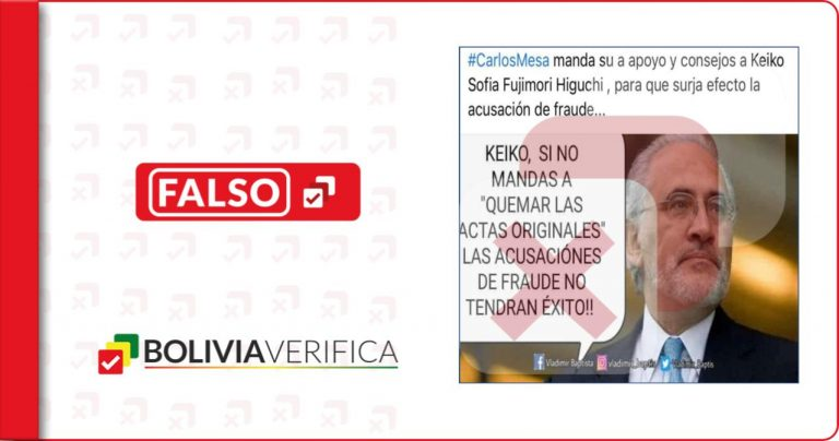 Carlos Mesa no se refirió a Keiko Fujimori y la acusación de fraude en Perú