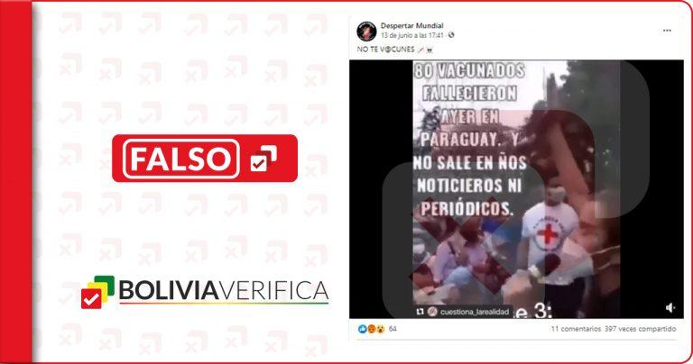 Es falso que 80 vacunados contra la Covid-19 fallecieron en Paraguay