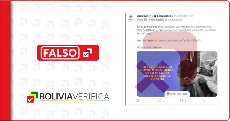 Viceministerio de Comunicación da dos datos falsos sobre decesos en la primera ola