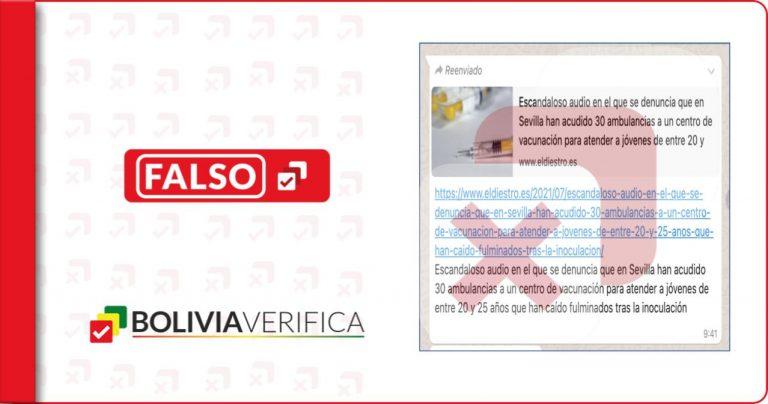 """Falso, no se paró la vacunación en una facultad de la Universidad de Sevilla tras """"casos de jóvenes desmayados"""""""