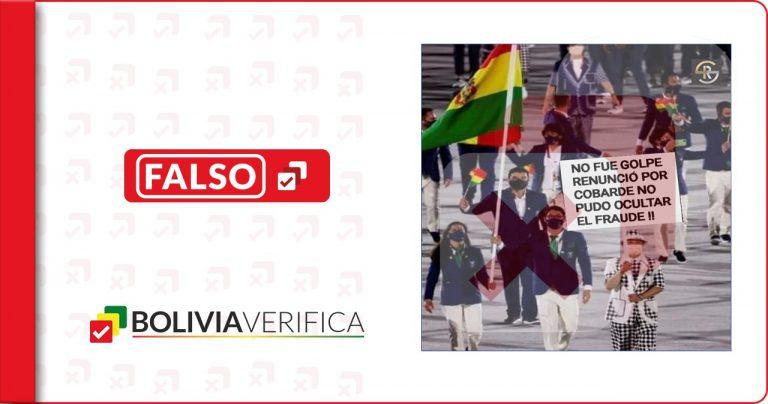 No hubo una protesta política en el desfile de atletas bolivianos en Tokio 2020