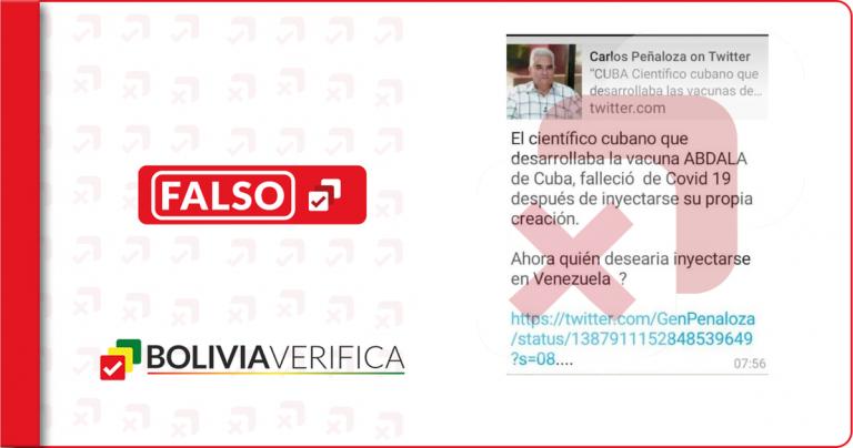 El médico cubano Gustavo Sierra no es el creador de la vacuna Abdala, ni se vacunó antes de morir