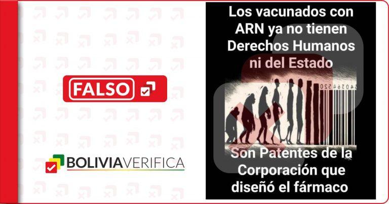 Los vacunados contra la Covid-19 no son, ni serán patentados por corporaciones farmacéuticas