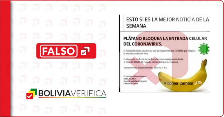 """Grupos antivacunas en La Paz promocionan bulo del plátano como un """"tratamiento anticovid"""""""