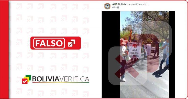 Negacionistas bolivianos aseguran falsamente que los barbijos enferman y que las vacunas asesinan