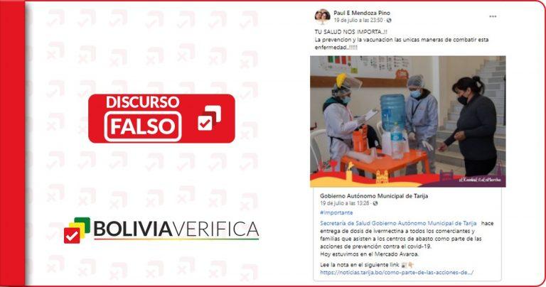 La ivermectina no previene la COVID-19 como indica el secretario municipal de Salud de Tarija