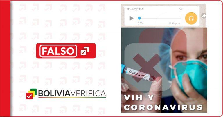 Mediante un audio de WhatsApp aseguran que el SIDA y el coronavirus no existen