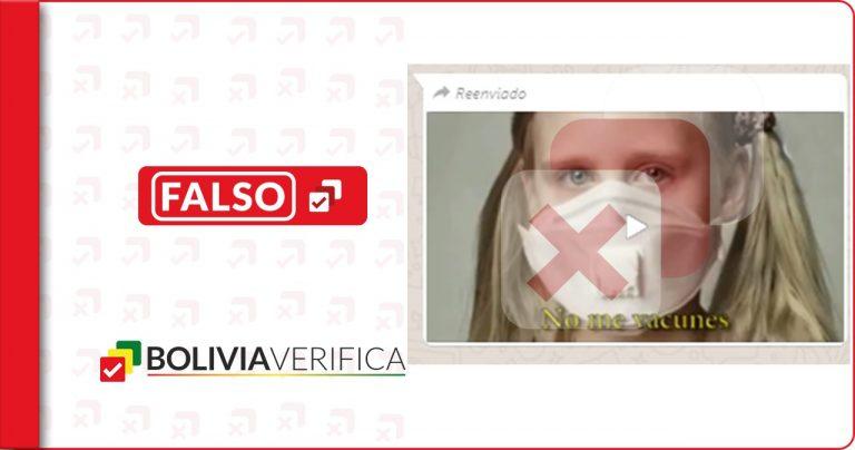 La vacuna contra la COVID-19 en niños no es aplicada en Bolivia ni pretende reducir la población
