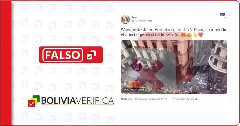 Esta protesta en Barcelona no fue contra el pase sanitario de COVID-19