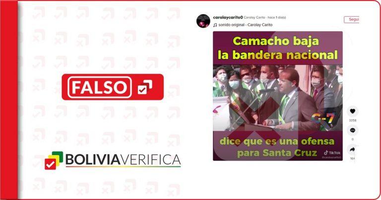 """El gobernador de Santa Cruz no """"bajó la bandera tricolor por ofensa a Santa Cruz"""""""
