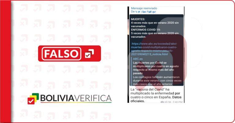 Es falso que las vacunas contra la COVID-19 multiplicaron las muertes en España