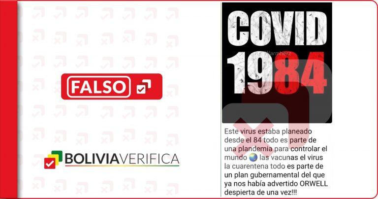 """No es verdad que la novela de Orwell """"1984"""" predijo el coronavirus"""