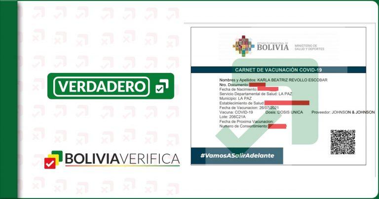 Karla Revollo opositora de las vacunas contra el coronavirus se vacunó en julio