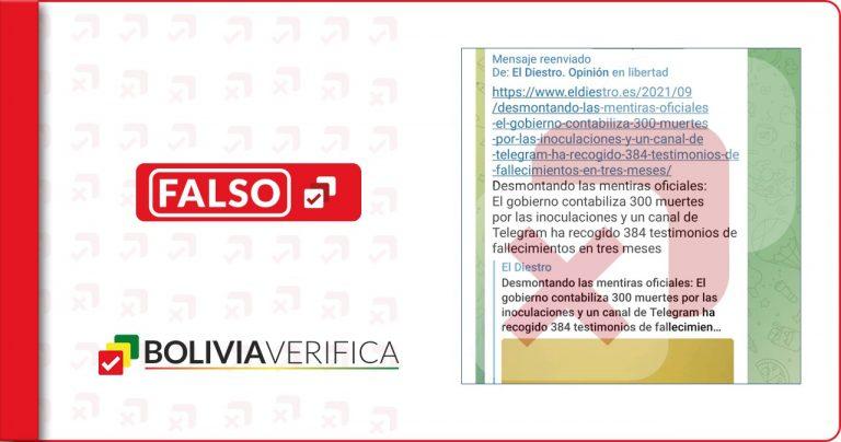 No es verdad que un informe relacionó 300 muertes a las vacunas contra COVID-19 en España