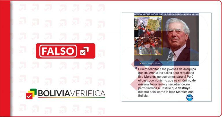 Vargas LLosa no se refirió a la visita de Evo Morales en Perú