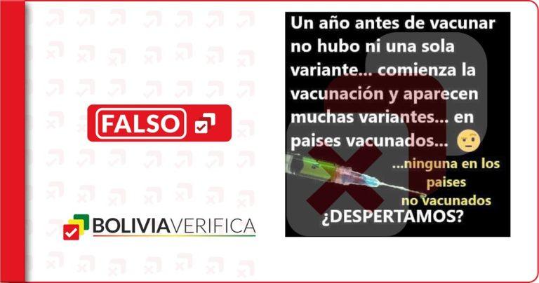 La aparición de variantes de COVID-19 no se debe a la vacunación